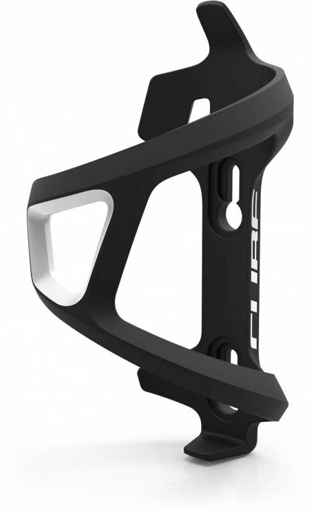 Cube bottle cage HPP Left-Hand Sidecage black n white