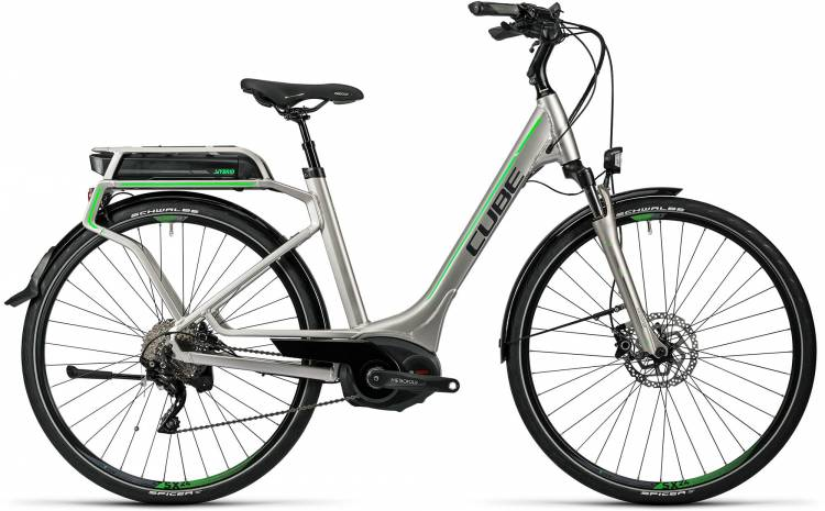 Cube Touring Hybrid Pro 500 silver n flashgreen Damen - Easy Entry 2016 - Demonstration Model