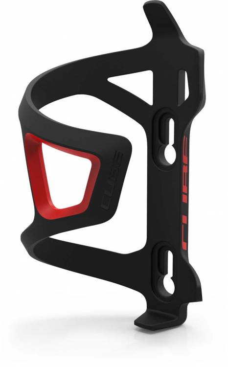 Cube bottle cage HPP Sidecage black n red