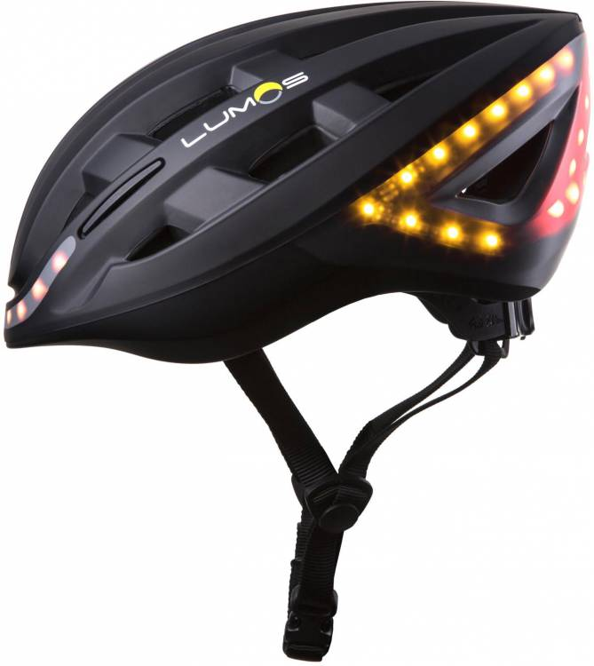 Lumos Kickstart cycle helmet with flashing function