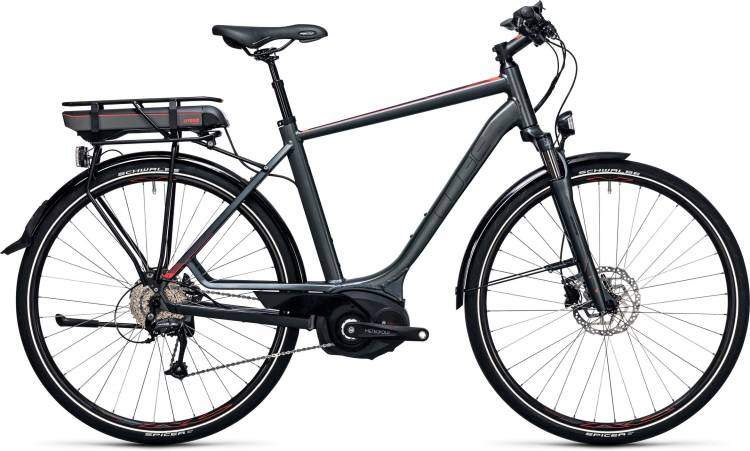 Cube Touring Hybrid 400 grey n flashred 2017