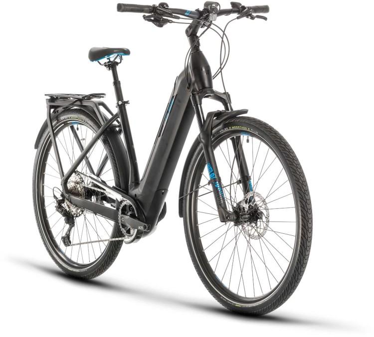 Cube Kathmandu Hybrid SL 625 black n blue 2020 - Touring E-Bike Easy Entry