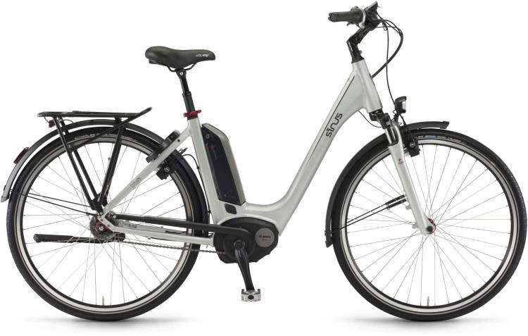 "Sinus Tria N8f 500Wh 28"" silber matt 2017 - Touring E-Bike Easy Entry"