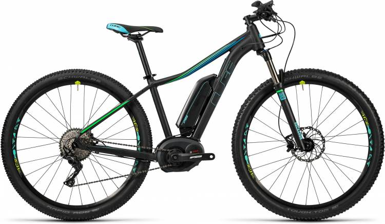 Cube Access WLS Hybrid Race 500 Nyon black n aqua n flashgreen 2016