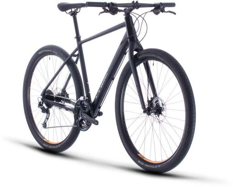 Cube Hyde black n yellow 2020 - Fitness Bike Men