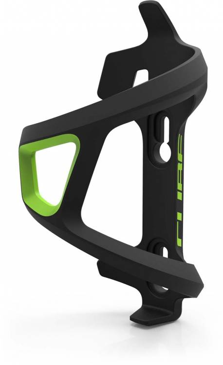Cube bottle cage HPP Left-Hand Sidecage black n green