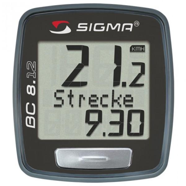 Sigma BC 8.12 Cycle Computer Black