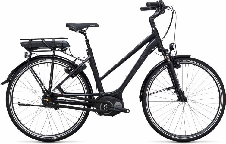 Cube Travel Hybrid 500 black n white 2017 - Touring E-Bike Women Trapezium