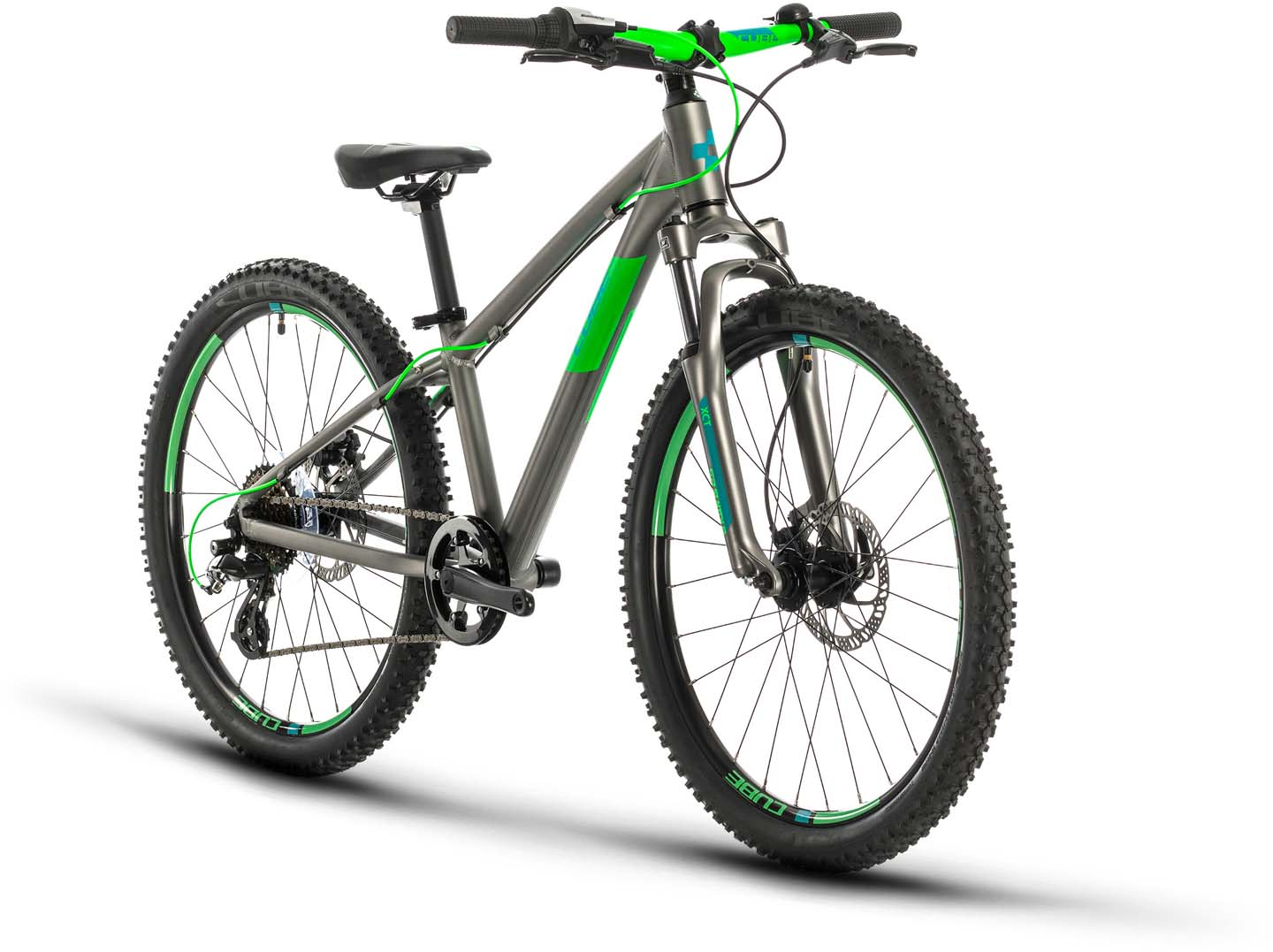 Cube Acid 240 Disc Grey N Neongreen 2021 Kid Bike 24 Inches Mhw