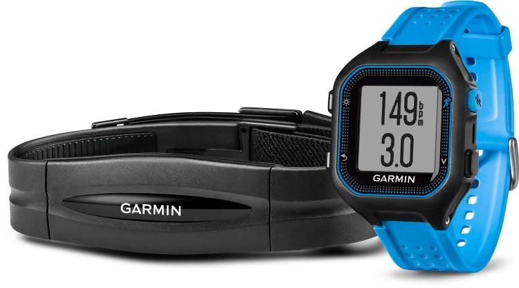 Garmin Forerunner® 25 Black/Blue with Standard Heart Rate Monitor