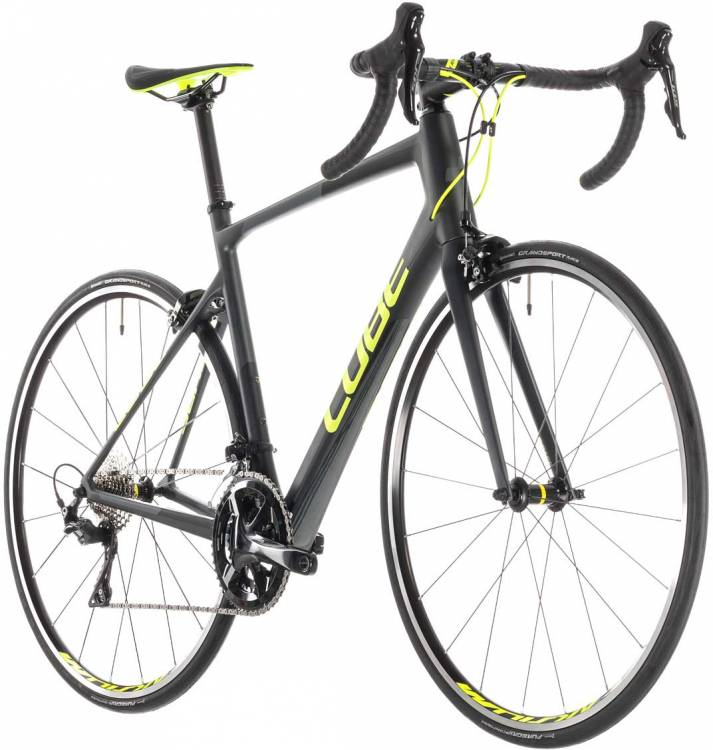 191ee7e6eb6 Cube Attain GTC Pro iridium n flashyellow 2019 Race Bike ▷ cheap at ...