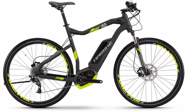 Haibike XDURO Cross 4.0 500Wh titan/lime matt 2017 - Cross E-Bike Men