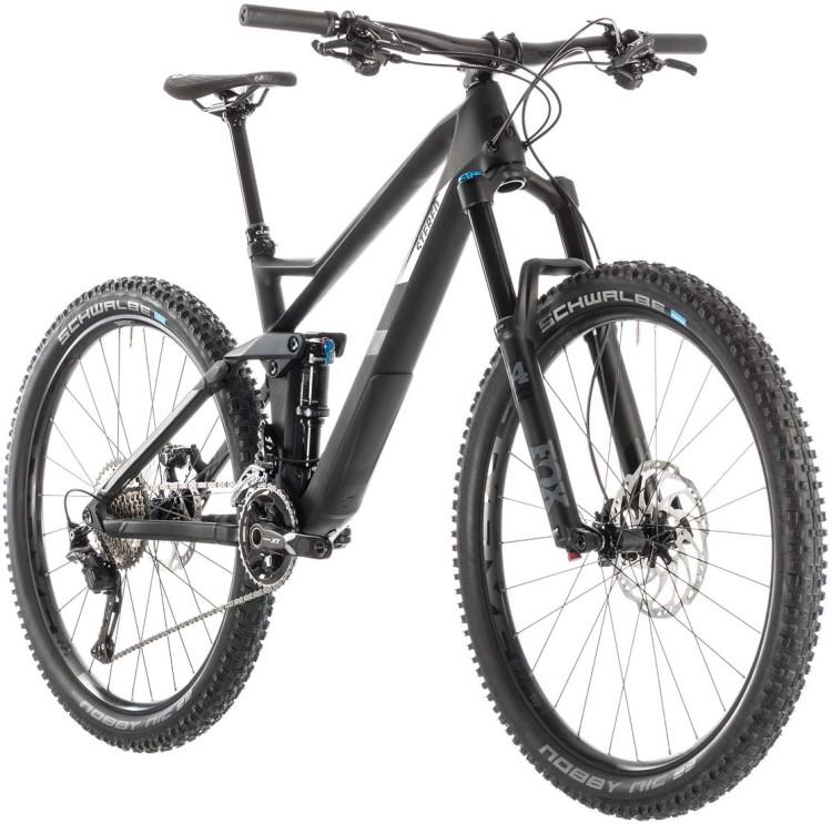 b6ea2e8cbb3 Cube Stereo 140 HPC SL 27.5 carbon n grey 2019 Mountainbike Fully ...
