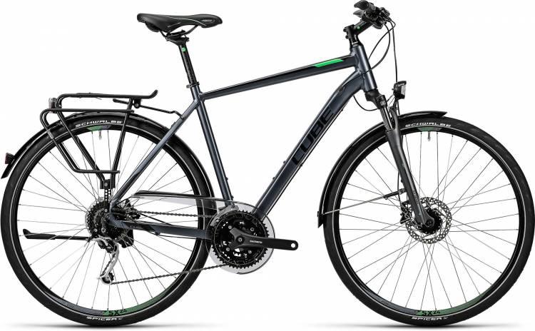 Cube Touring Exc grey black flashgreen Herren 2016