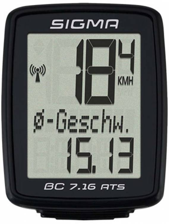 Sigma Bicycle Computer BC 7.16 ATS wireless black