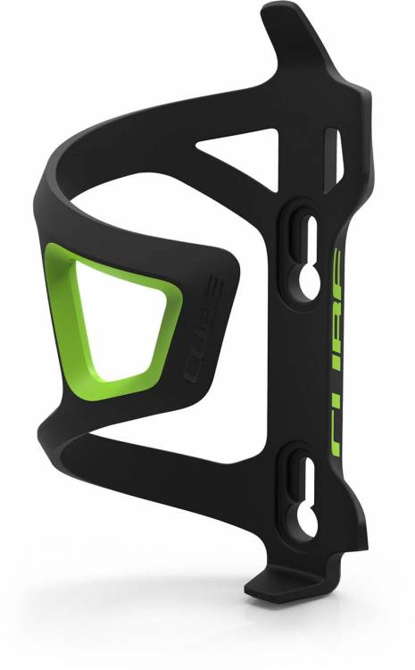 Cube bottle cage HPP Sidecage black n green