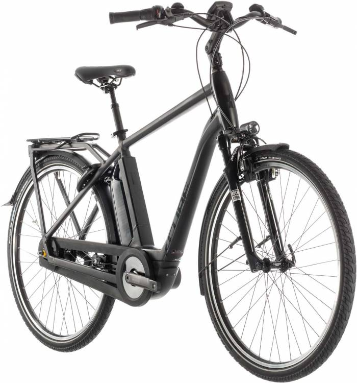 Cube Town Hybrid EXC 500 black edition - Men 2019