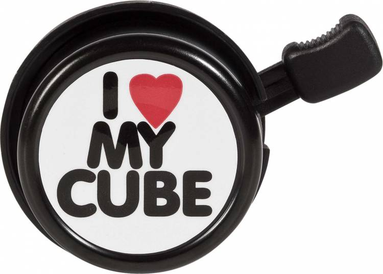 Cube bicycle bell I LOVE MY Cube black n white n red