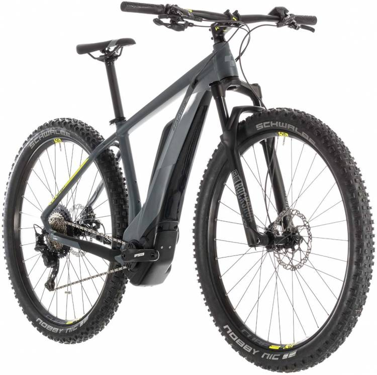 cd83730899f Cube Reaction Hybrid Race 500 grey n lime 2019 E-Bike, Mountainbike ...