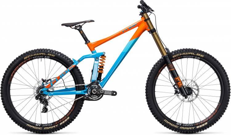 Cube TWO15 HPA SL 27.5 blue orange 2017 - Fully Mountainbike