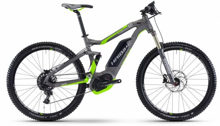 Haibike XDURO FullSeven 5.0 500Wh titan/neon grün matt 2017