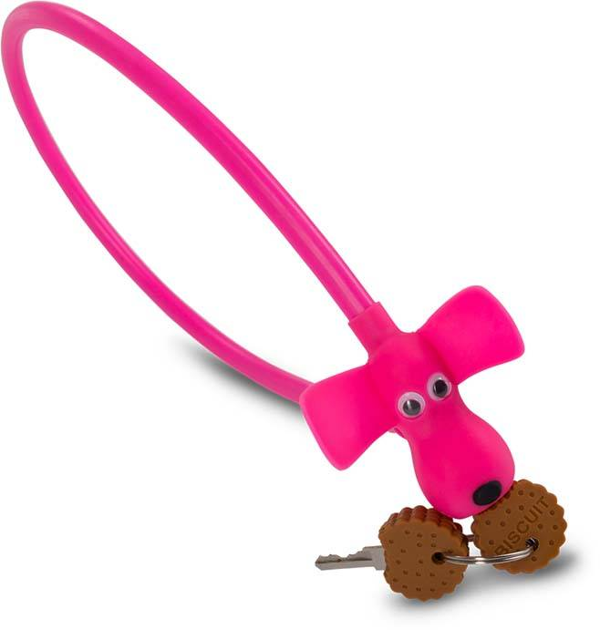 "RFR cable lock HPS ""DOG"" 10 x 450 mm pink"