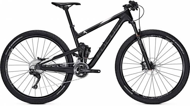 Focus O1E Pro 29 black/white 2017 - Fully Mountainbike