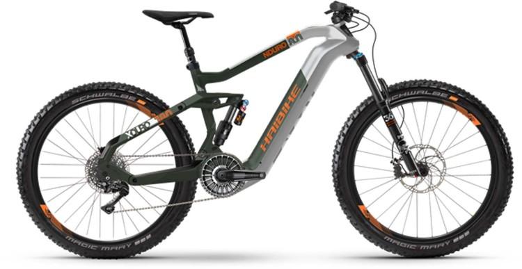 Haibike XDURO Nduro 8.0 FLYON i630Wh silver/olive/orange dull 2021