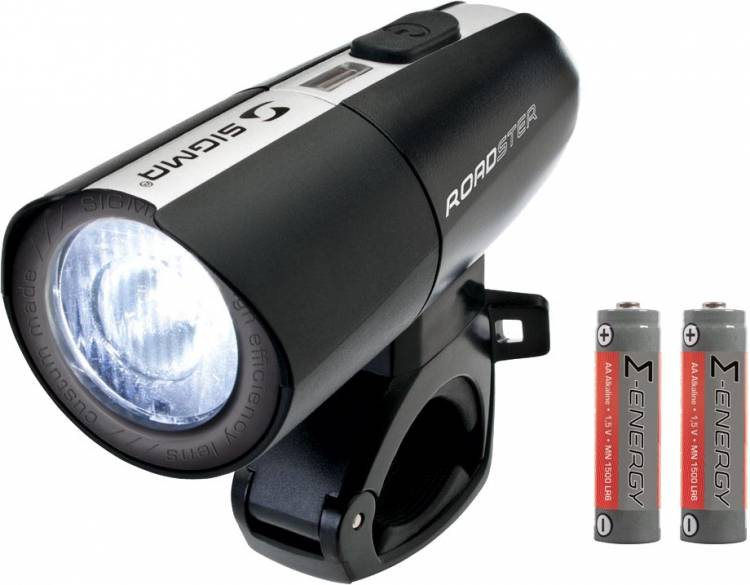 Sigma Roadster LED front light incl. 2x AA batteries