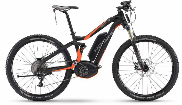 Haibike XDURO FullSeven S 7.0 500Wh schwarz/orange matt 2017