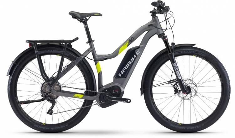 Haibike XDURO Trekking 4.0 500Wh titan/lime matt 2017 - Touring E-Bike Women Trapezium