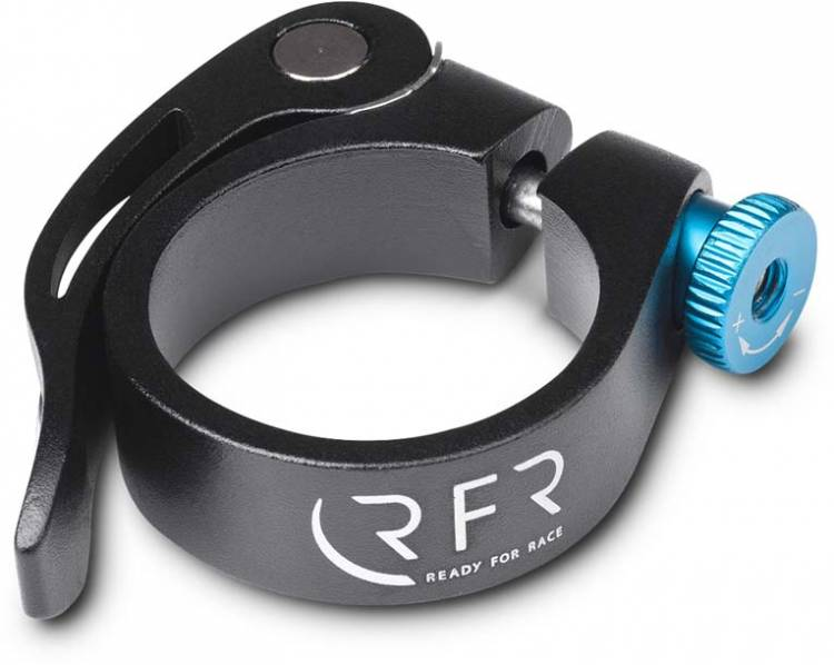 RFR saddle clamp with quick release 34,9 mm black n blue