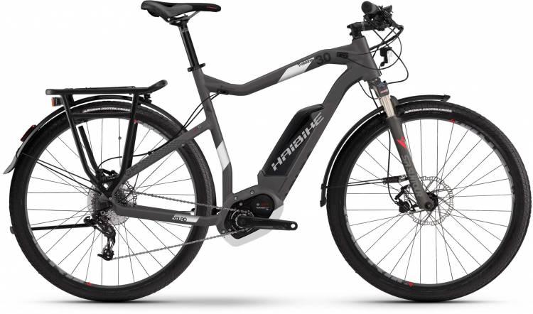Haibike XDURO Trekking 3.0 500Wh titan/weiß/rot matt 2017 - Touring E-Bike Men