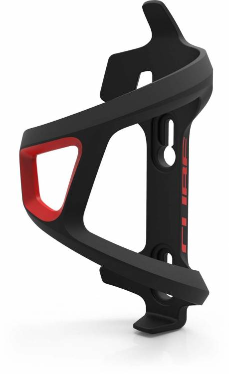 Cube bottle cage HPP Left-Hand Sidecage black n red