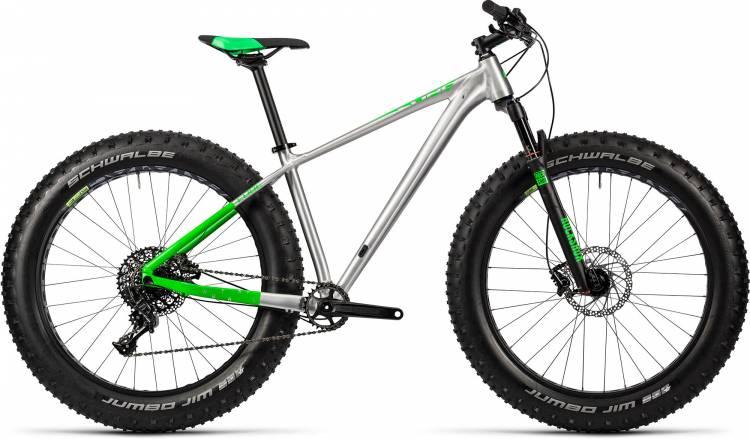 Cube Nutrail Pro metal n green Fatbike 2016