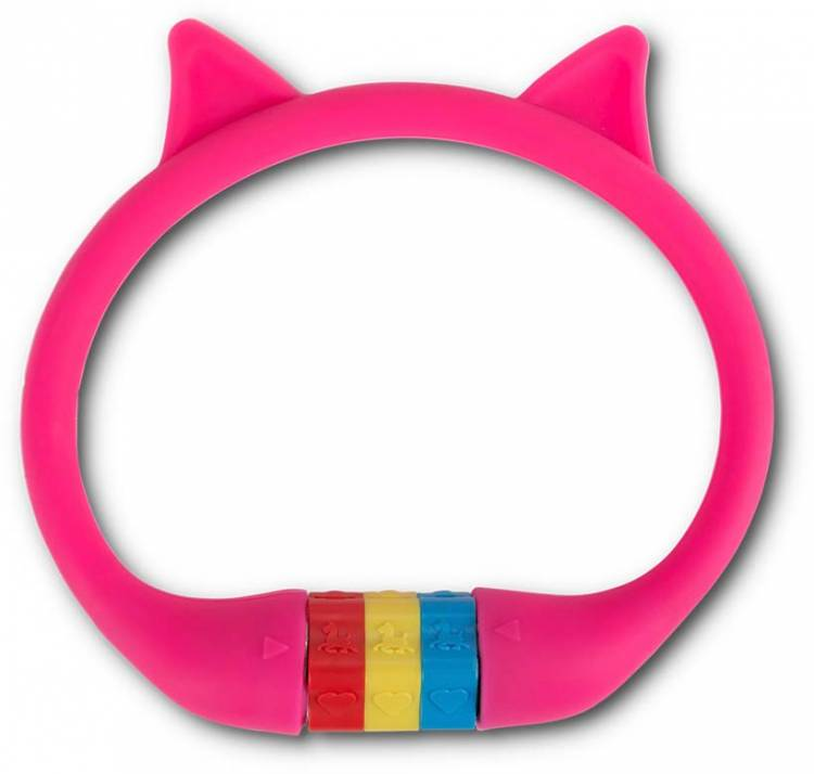 """RFR Number cable lock HPS """"CAT"""" 10 x 350 mm pink"""