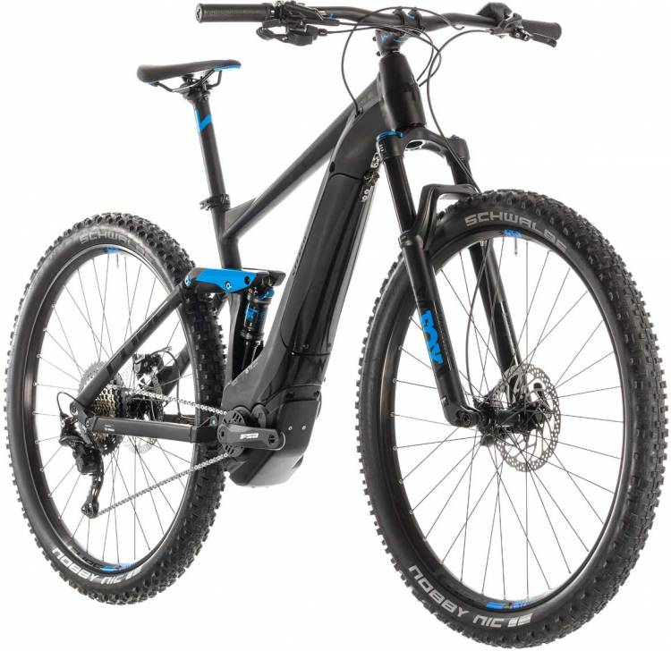 118a7070b8b337 Cube Stereo Hybrid 120 Race 500 black n blue E-Bike