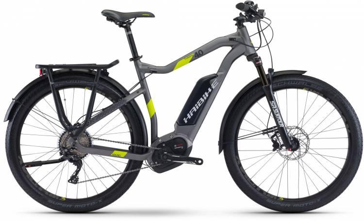 Haibike XDURO Trekking 4.0 500Wh titan/lime matt 2017 - Touring E-Bike Men
