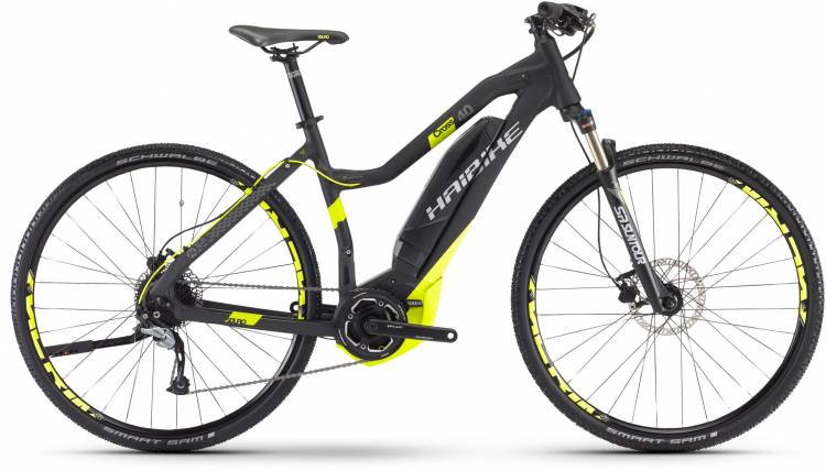 Haibike SDURO Cross 4.0 400Wh schwarz/lime matt Damen 2017