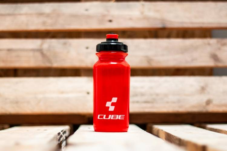 Cube drinking bottle 0,5l Icon red