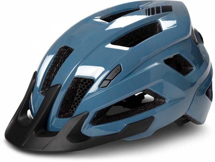 Cube Helm STEEP glossy blue