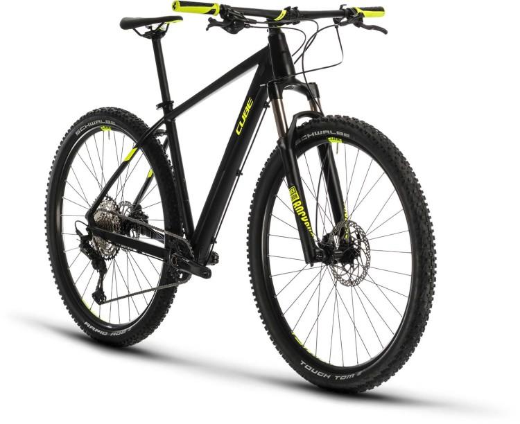 Cube Reaction Pro black n flashyellow 2020 - Hardtail Mountainbike