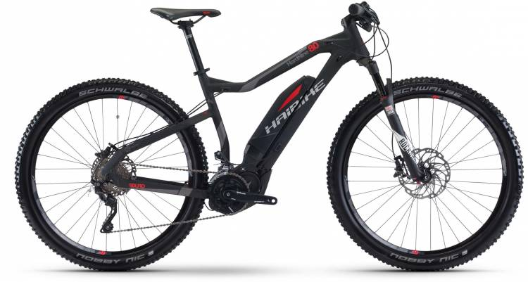 Haibike SDURO HardNine 8.0 500Wh schwarz/rot/titan matt 2017 - E-Bike Hardtail Mountainbike
