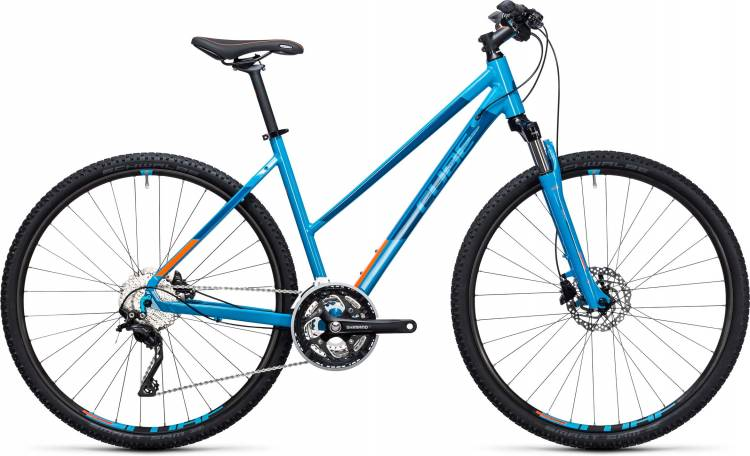 Cube Nature Pro reefblue n flashorange 2017 - Cross Bike Women Trapezium