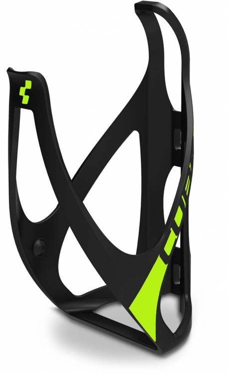 Cube bottle cage HPP matt black n classic green
