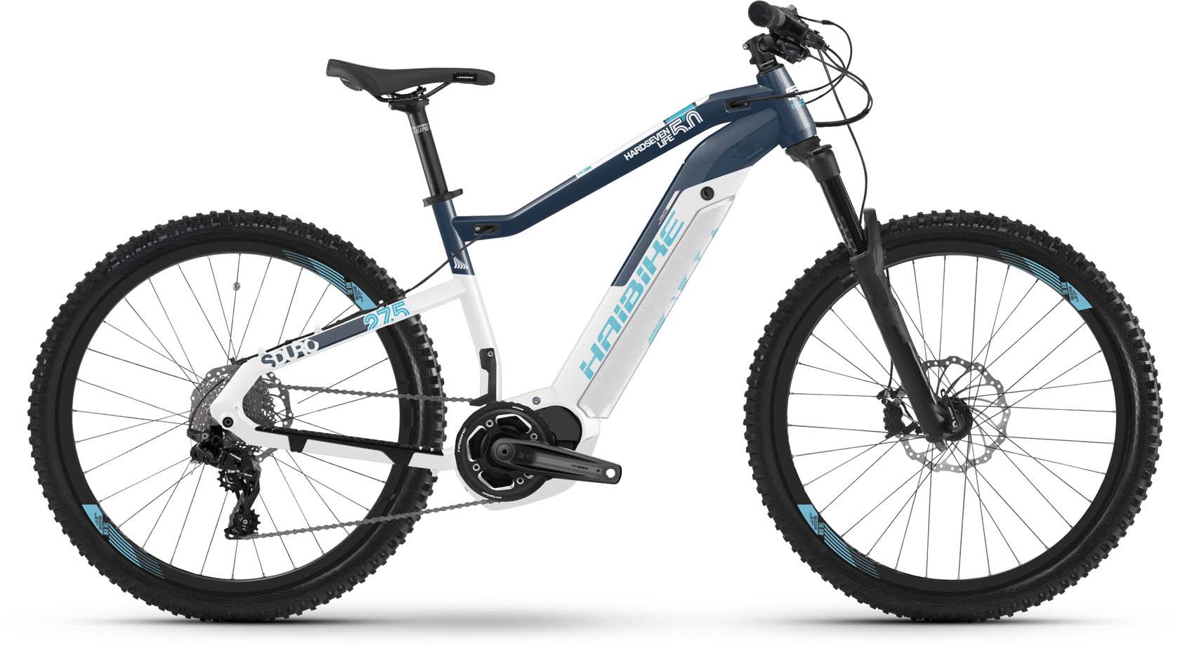 6bf05ab47dac6c Haibike SDURO HardSeven Life 5.0 i500Wh weiß blau blau 2019 E-Bike ...