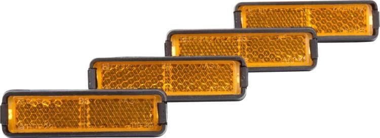 RFR Pedalreflektor Set orange 4 Stück