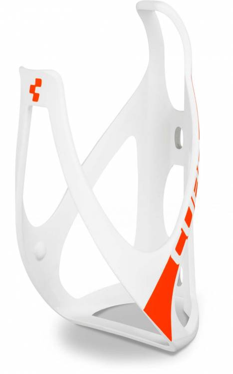 Cube bottle cage HPP matt white n flashred