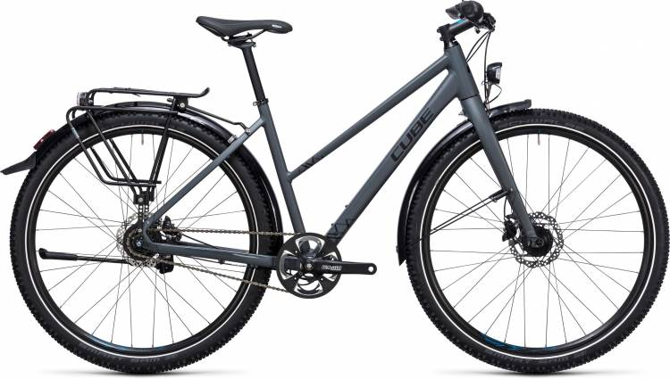 Cube Travel Pro grey n black Damen Trapez 2017