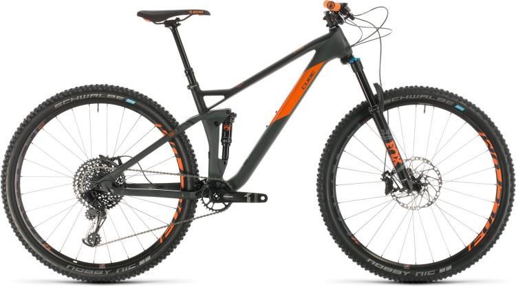 Cube Stereo 120 HPC TM 29 grey n orange 2020 - Fully Mountainbike